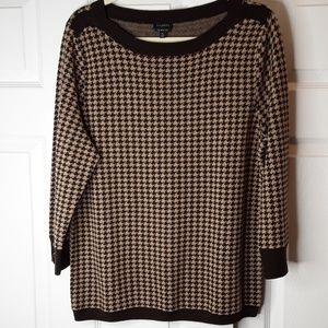 Talbots Merino Wool Houndstooth Sweater